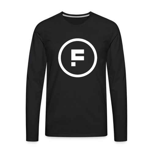 Logo Rond Wit Fotoclub - Mannen Premium shirt met lange mouwen