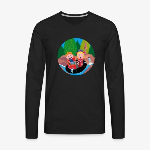 Themepark: Rapids - Mannen Premium shirt met lange mouwen