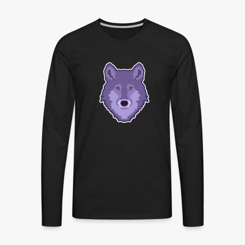Spirit Wolf - Herre premium T-shirt med lange ærmer