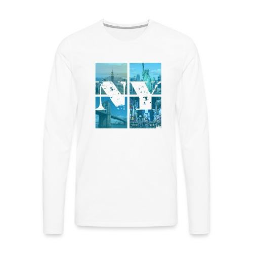 NEW YORK BLUE - Männer Premium Langarmshirt