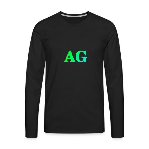 ATG Games logo - Miesten premium pitkähihainen t-paita