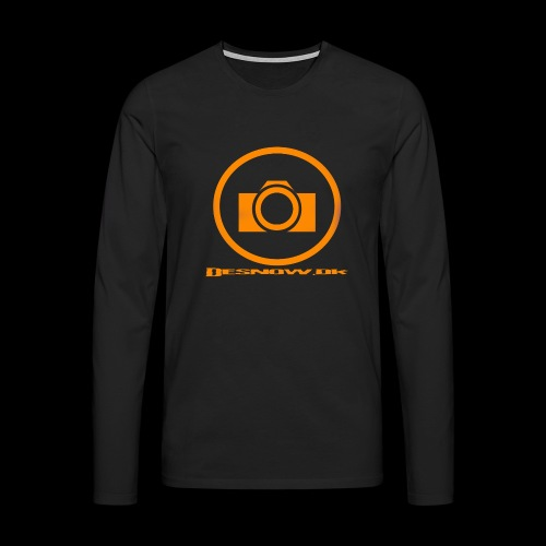 Orange 2 png - Herre premium T-shirt med lange ærmer