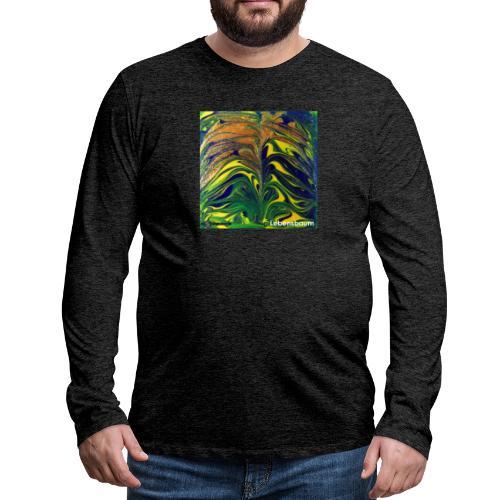 TIAN GREEN Mosaik DE029 - Lebensbaum - Männer Premium Langarmshirt