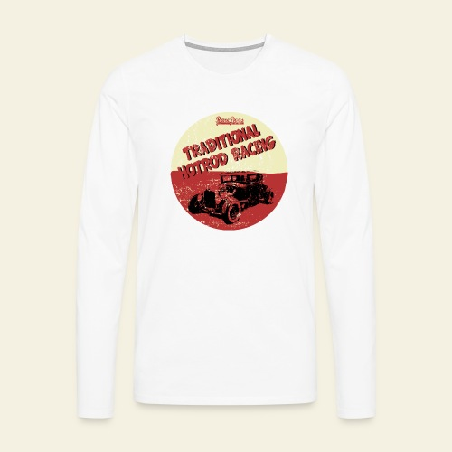 hotrod racing logo - Herre premium T-shirt med lange ærmer