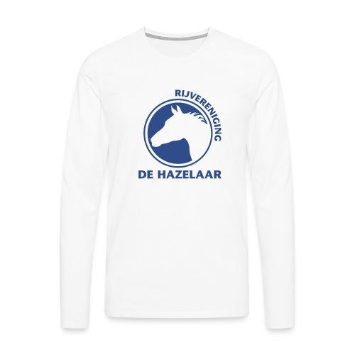 LgHazelaarPantoneReflexBl - Mannen Premium shirt met lange mouwen