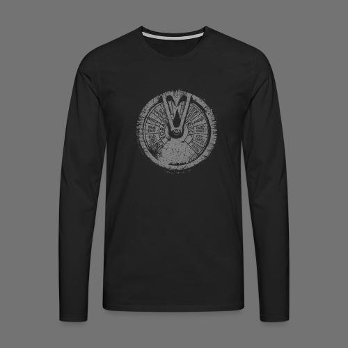 Maschinentelegraph (harmaa oldstyle) - Miesten premium pitkähihainen t-paita