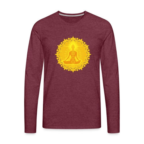 Yoga Lotus Meditation Chakren III - Männer Premium Langarmshirt