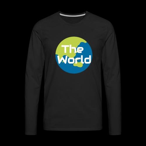 The World Earth - Herre premium T-shirt med lange ærmer