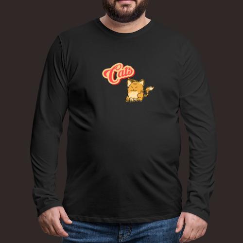 Katze | Katzen süß Schriftzug - Männer Premium Langarmshirt