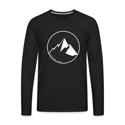 Berge Mauna one, Geschenkidee, Geschenk - Männer Premium Langarmshirt