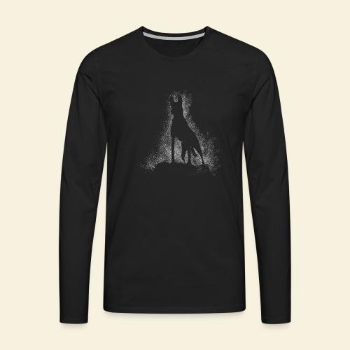 Dog Silhouette - Männer Premium Langarmshirt