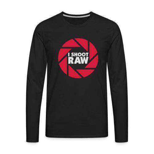 I shoot RAW - weiß - Männer Premium Langarmshirt
