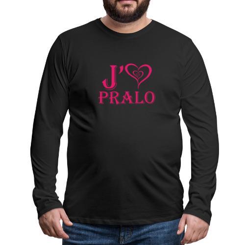 j aime pralo rouge 2 - T-shirt manches longues Premium Homme
