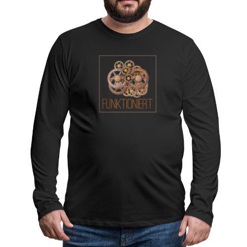 Zahnräder shirt - Männer Premium Langarmshirt