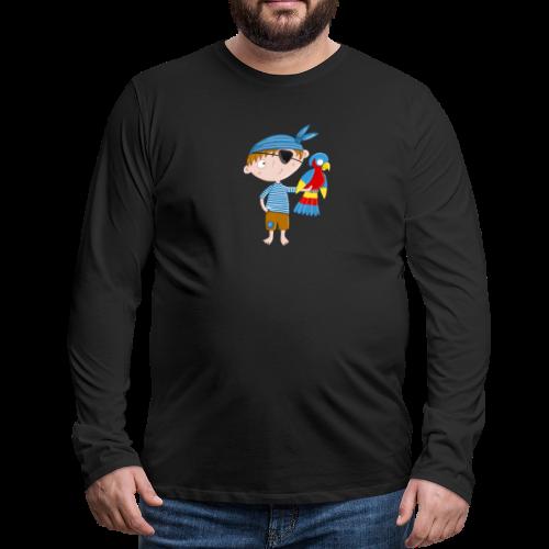 Kleiner Pirat mit Papagei - Männer Premium Langarmshirt