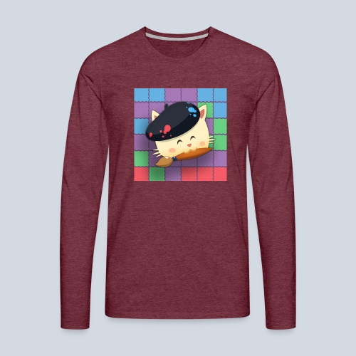 Hungry Cat Picross - T-shirt manches longues Premium Homme
