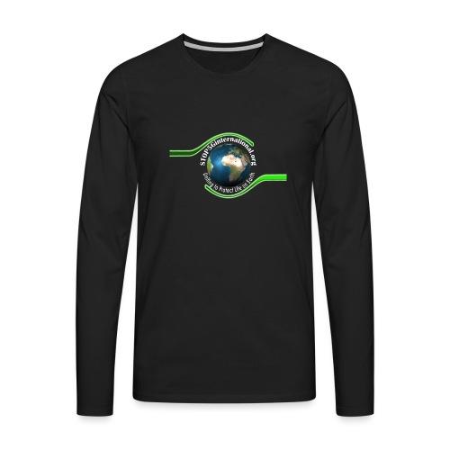 LOGO white font - Men's Premium Longsleeve Shirt