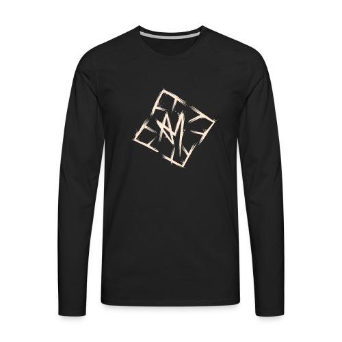 Across Yourself - Logo white transparent - Men's Premium Longsleeve Shirt