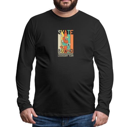 Skateboard 10 - Maglietta Premium a manica lunga da uomo