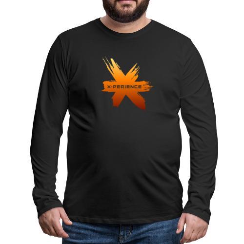 X-Perience Orange Logo - Männer Premium Langarmshirt