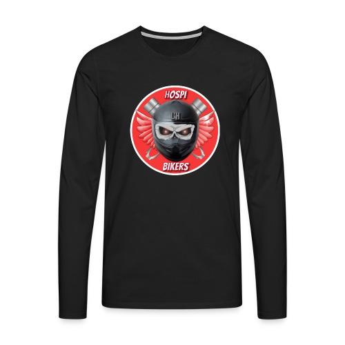 logo hospibikers - Camiseta de manga larga premium hombre