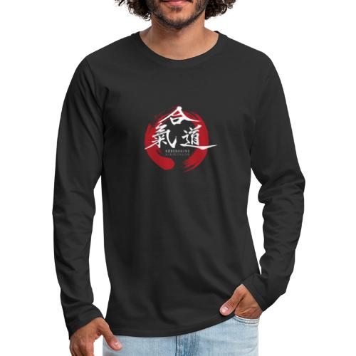KAK logo white ink - Herre premium T-shirt med lange ærmer