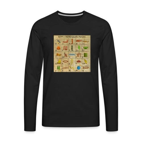 The Hieroglyphic Alphabet - Männer Premium Langarmshirt
