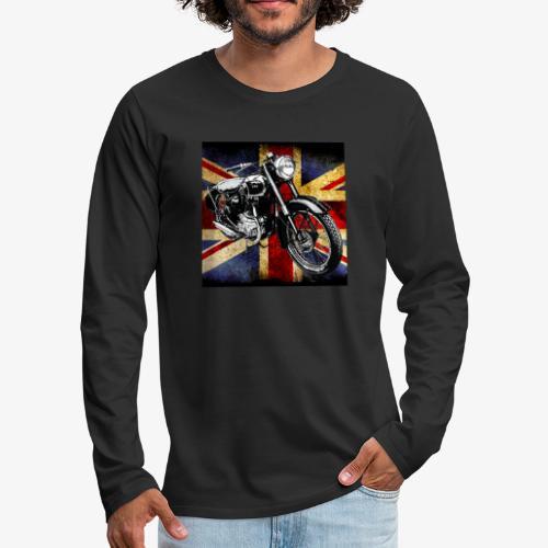 BSA motor cycle vintage by patjila 2020 4 - Men's Premium Longsleeve Shirt
