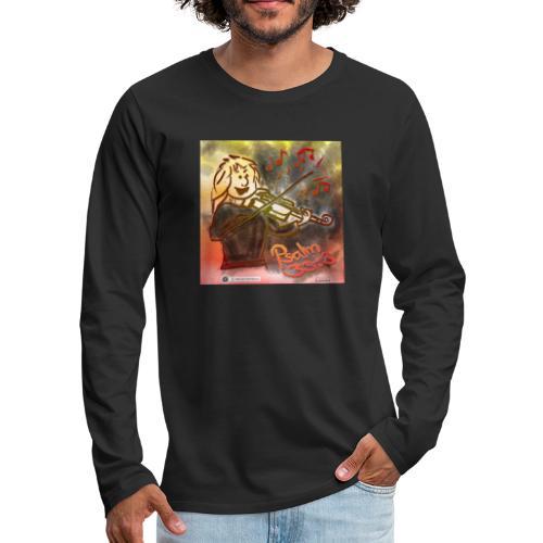 Design Geige Psalm 33 Vers 3 - auf Kleidung - Männer Premium Langarmshirt