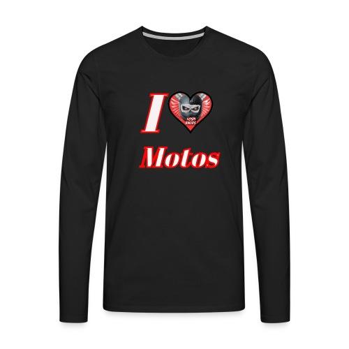 ilovemotos - Camiseta de manga larga premium hombre