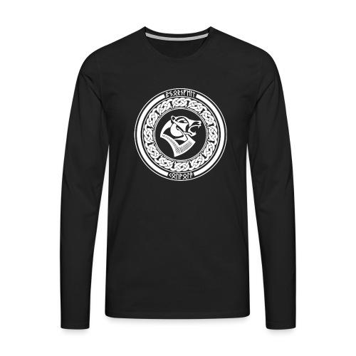 BjörnfellRisingWhite - Miesten premium pitkähihainen t-paita