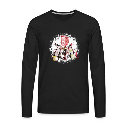 Vache d'hérens Eringer valais - T-shirt manches longues Premium Homme