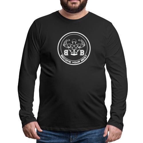 BYB logo white - Herre premium T-shirt med lange ærmer
