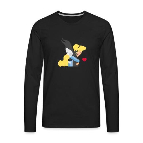 Abbracciccio-04 - Maglietta Premium a manica lunga da uomo