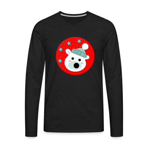 Winter bear - Men's Premium Longsleeve Shirt