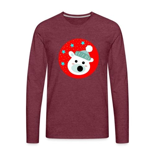 Winter bear - Men's Premium Longsleeve Shirt