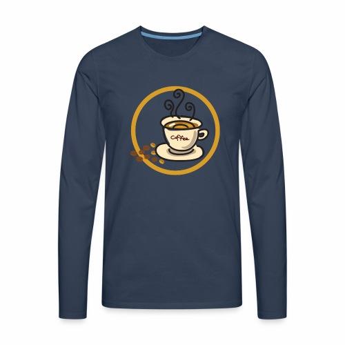 Kaffeeemblem - Männer Premium Langarmshirt