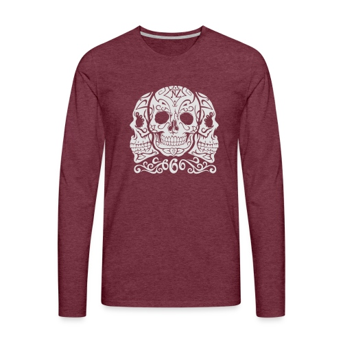 Skull Dia de los muertos - T-shirt manches longues Premium Homme