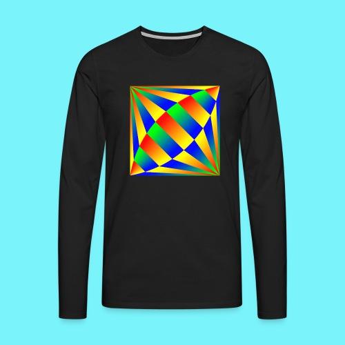 Giant cufflink design in blue, green, red, yellow. - Men's Premium Longsleeve Shirt