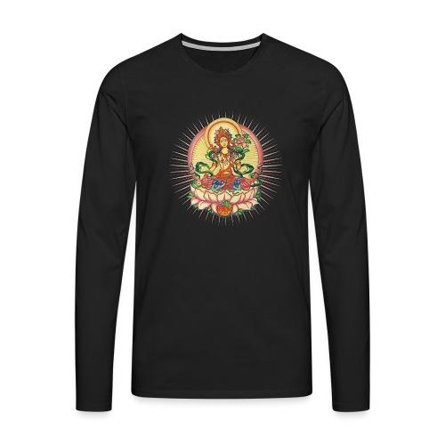 Tara Tibet Buddhismus Lotus Meditation Yoga - Männer Premium Langarmshirt