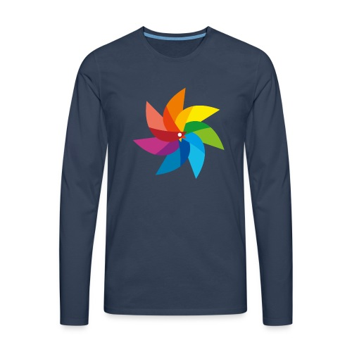 bunte Windmühle Kinderspielzeug Regenbogen Sommer - Men's Premium Longsleeve Shirt