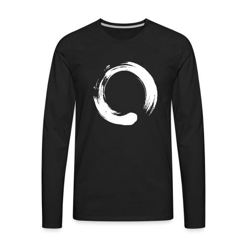 Enso Zen Symbol Buddhismus Kalligrafie Yoga Kreis - Männer Premium Langarmshirt