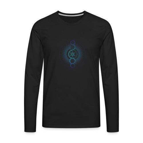 Sacred Geometry Metatron's Cube Gradient - Men's Premium Longsleeve Shirt