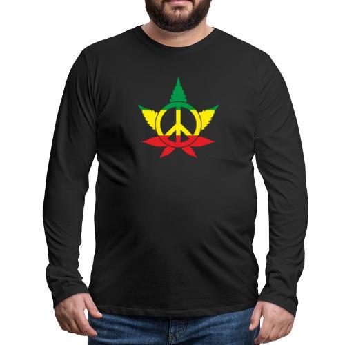 Peace färbig - Männer Premium Langarmshirt