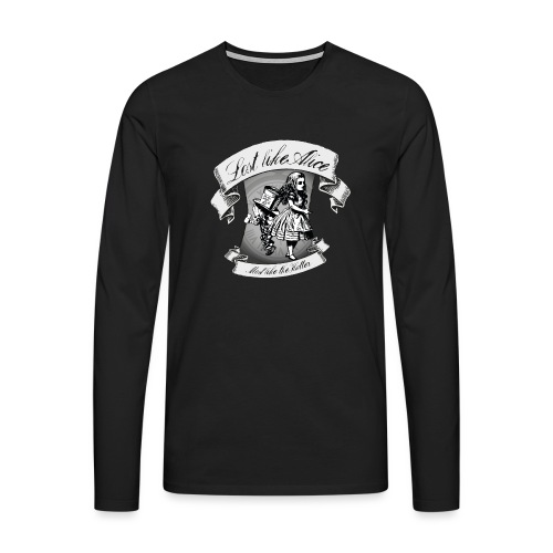 Lost like Alice, Mad like the Hatter - Men's Premium Longsleeve Shirt