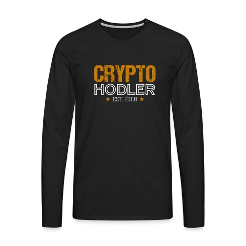 CRYPTO HODLER Est. 2018 - Männer Premium Langarmshirt