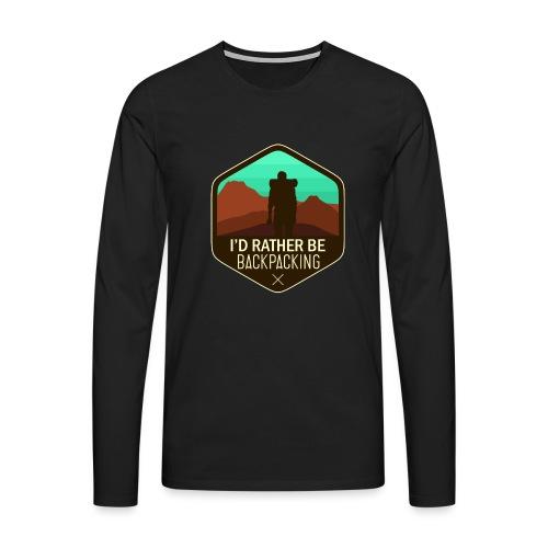 I'd Rather Be Backpacking - Männer Premium Langarmshirt