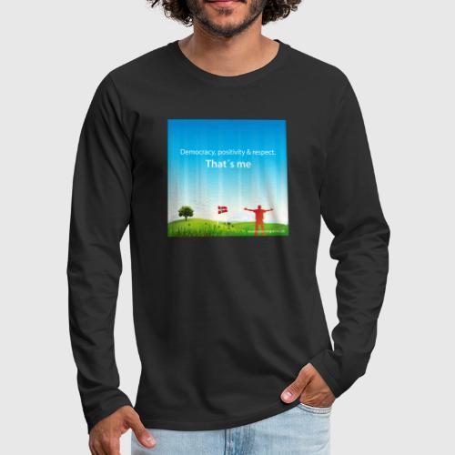 Rolling hills tshirt - Herre premium T-shirt med lange ærmer
