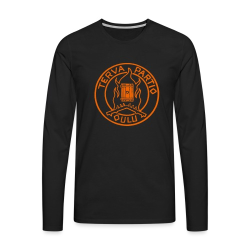 Tervapartio_oranssi - Miesten premium pitkähihainen t-paita