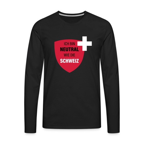 Neutral wie die Schweiz - Männer Premium Langarmshirt